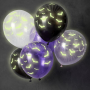 FETE EN KIT - ARTICLE DECORATION - ANNIVERSAIRE HALLOWEEN - BALLON CHAUVE-SOURIS FLUORESCENT