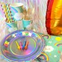KIT ANNIVERSAIRE ARC EN CIEL - DECO TABLE - FETE EN KIT